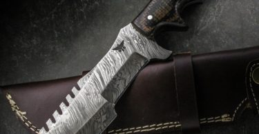 Handmade HTK-186 Damascus Knife