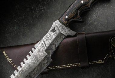 Handmade HTK-186 Damascus Knife