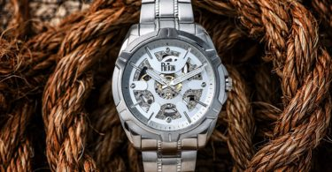 Reign Carlisle Automatic Skeleton Dial Bracelet Watch