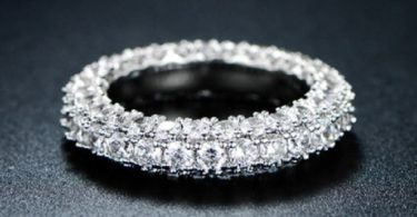 Italian-Cut 3 Row Eternity Ring