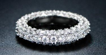 Italian-Cut 3 Row Eternity Ring