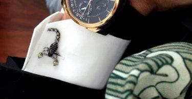 Mechanical Scorpion Cufflinks in Gunmetal Plating