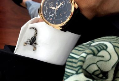 Mechanical Scorpion Cufflinks in Gunmetal Plating
