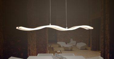 Modern Acrylic Wave Shape LED Light