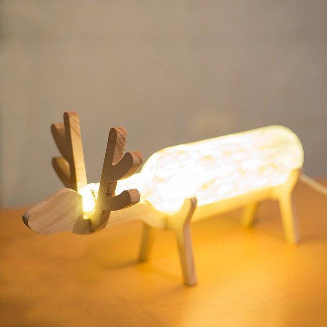 Deer Wine Bottle Table Lamp