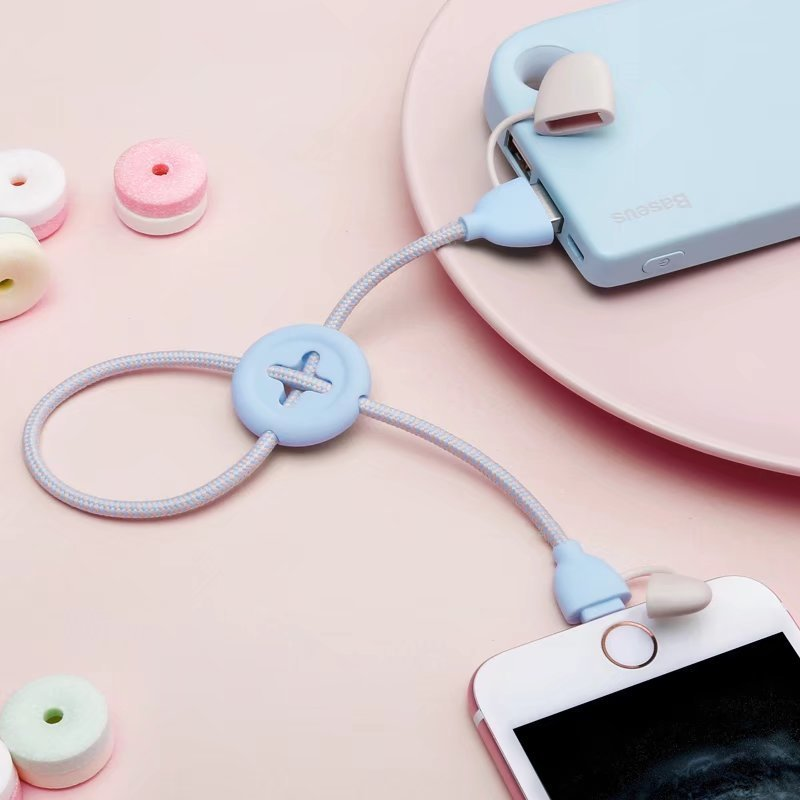 Braided Button Lightning Cable