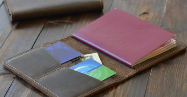 Chestnut Brown Pike Passport Wallet