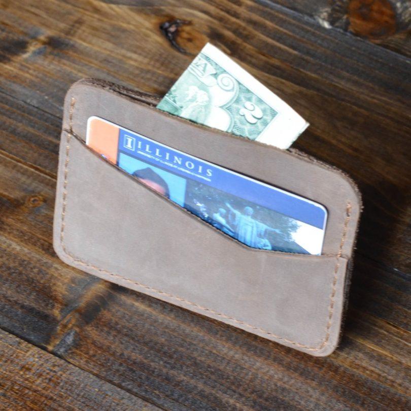 Sand Brown Minimalist Cardholder
