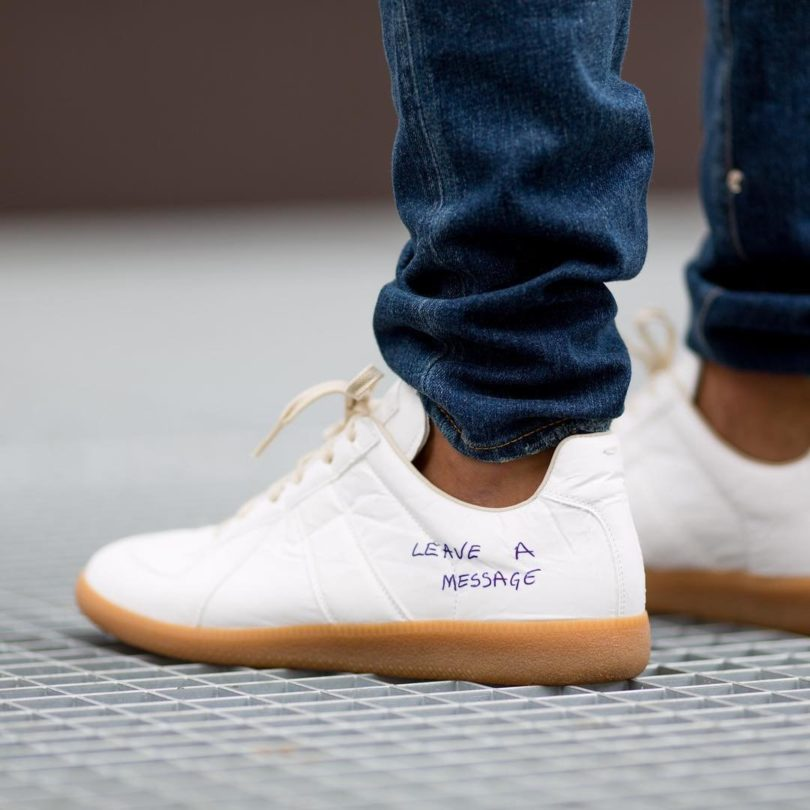 Maison Margiela White Replica Pen Sneakers