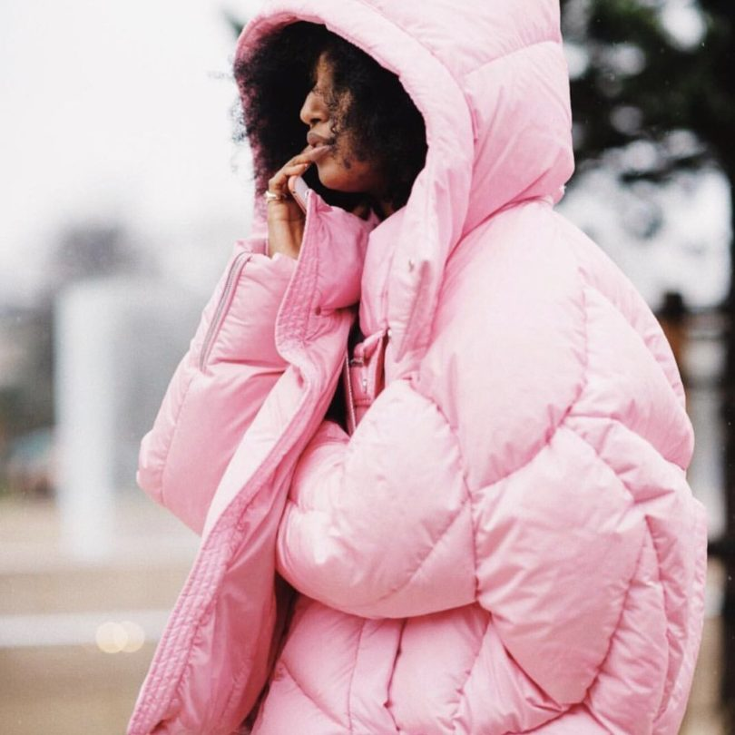Chen Peng Pink Short Quilted Puffer Jacket