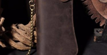 Genuine Crazy Horse Vintage Leather Chain Wallet