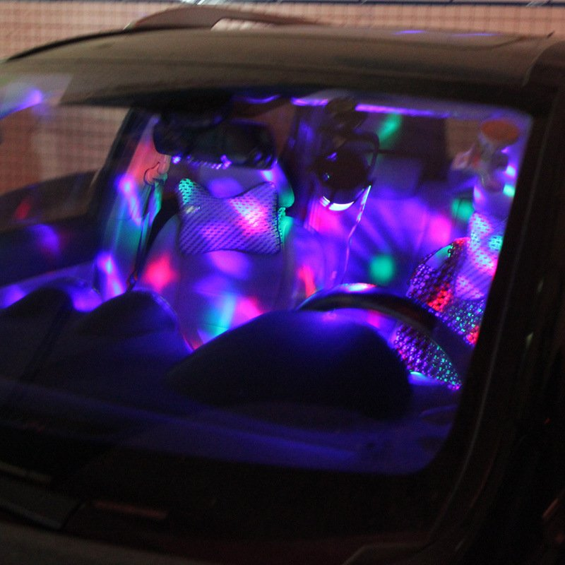 led disco car light petagadget. Black Bedroom Furniture Sets. Home Design Ideas