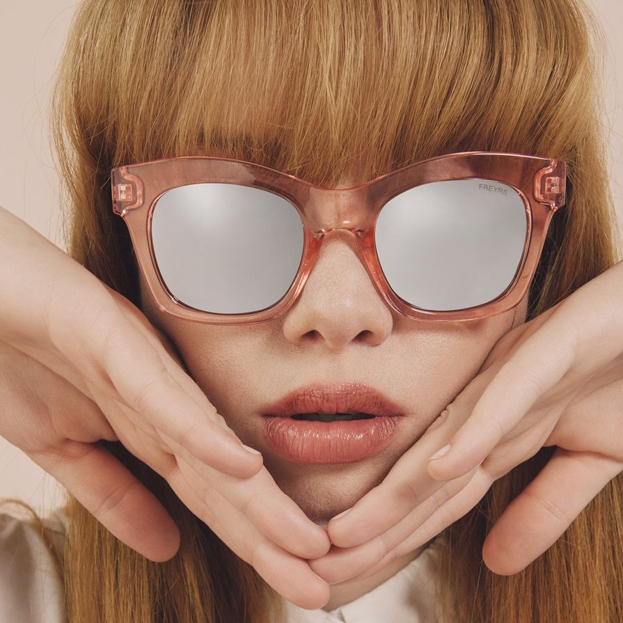 Zoe Pink Cat Eye Sunglasses