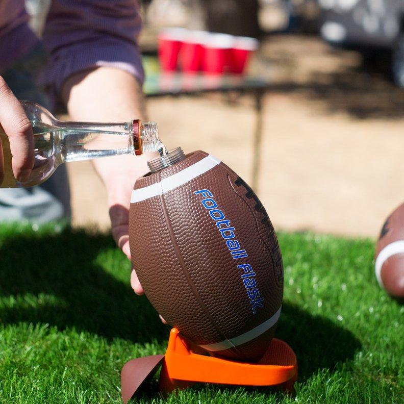 BoozeBlitz Football Flask