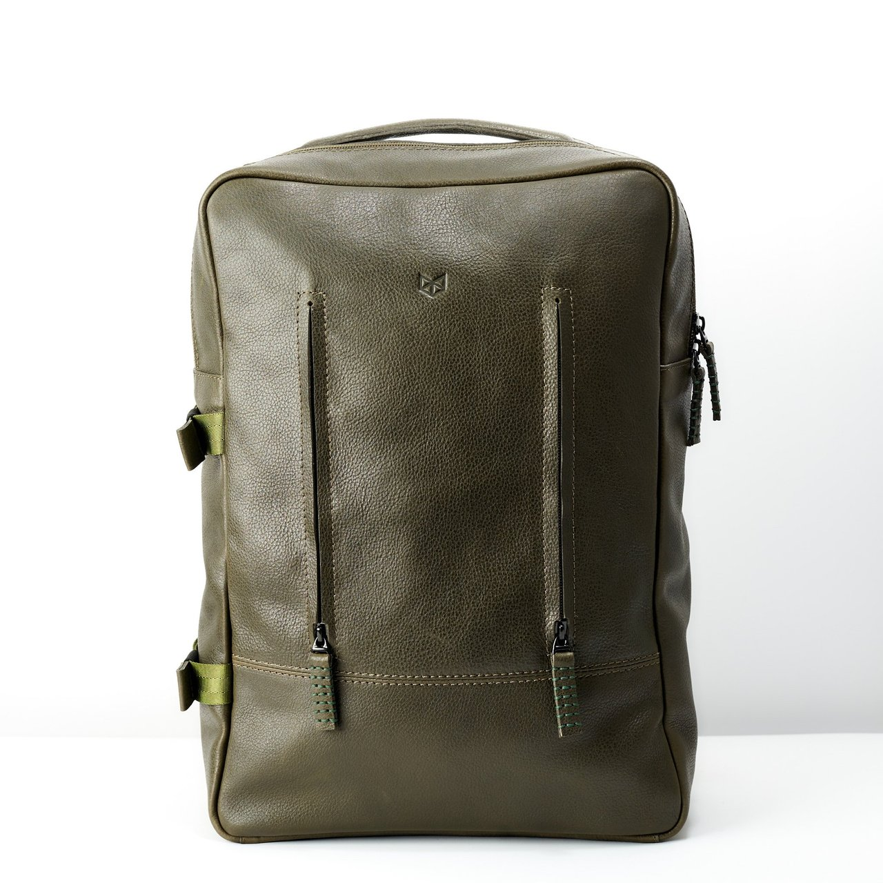 Hunter Green Leather Tamarao Backpack Rucksack