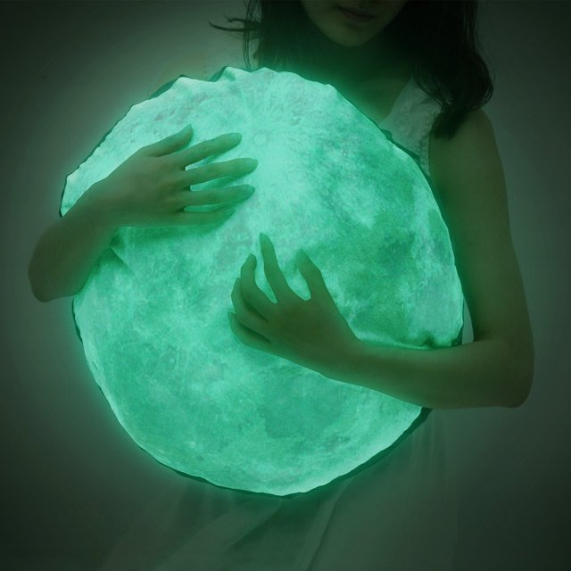 Glow In The Dark Moon Pillow