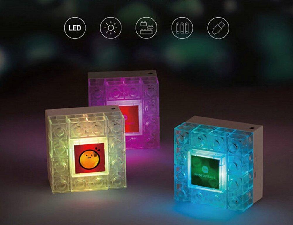 Photo Frame DIY Blocks Lamp