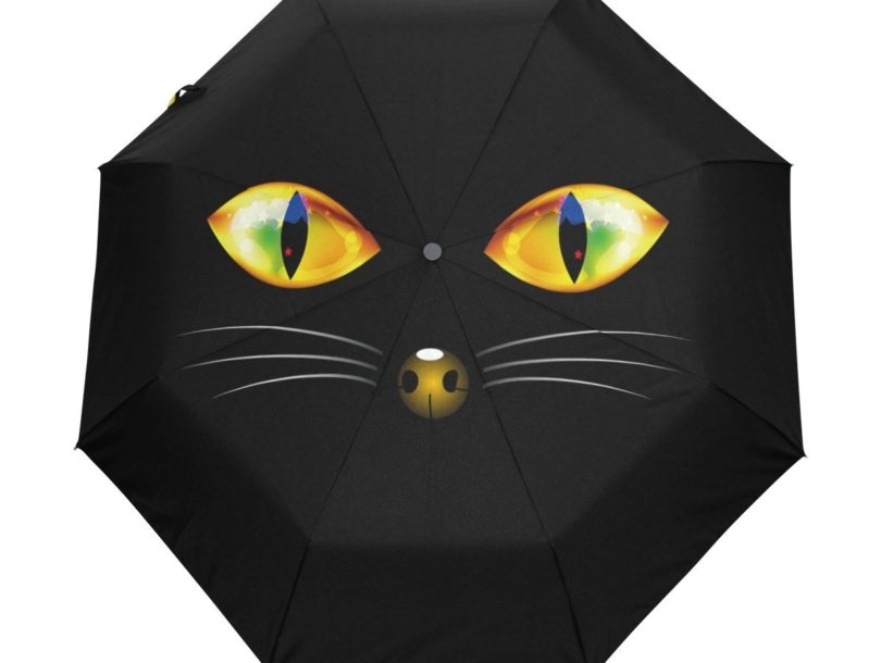 Yochoice Hipster Halloween Black Cat Umbrella