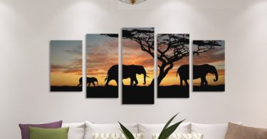 Elephants Walking HD Print Set
