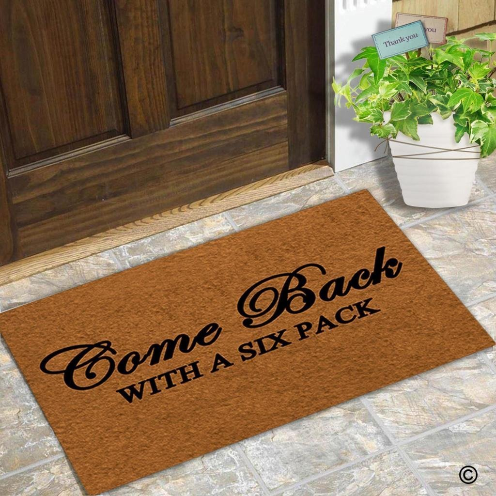 Come Back With A Six Pack Coco Doormat