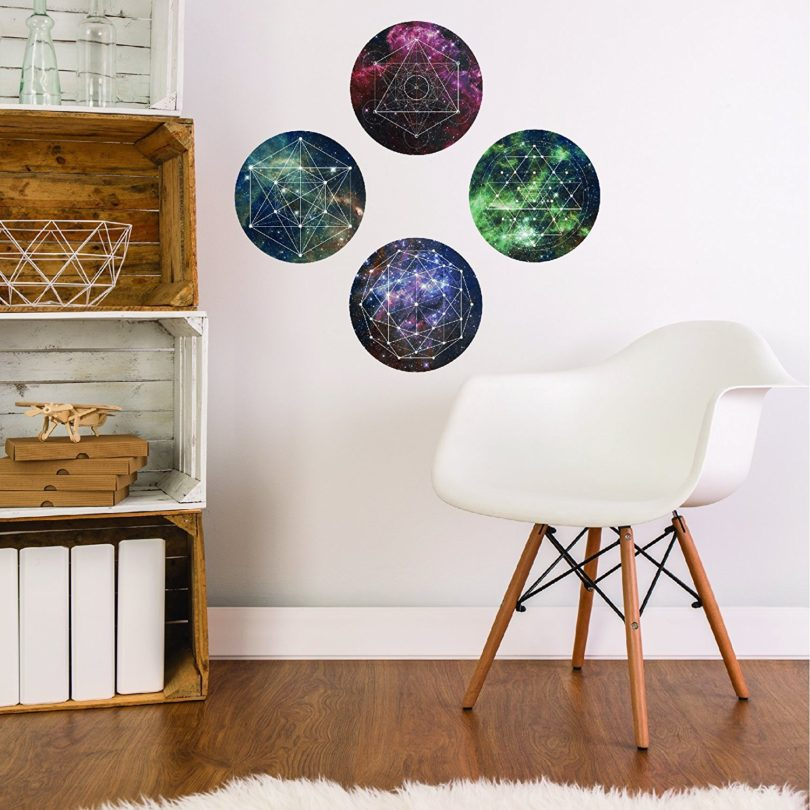 Space Galaxy Geometry Wall Decals