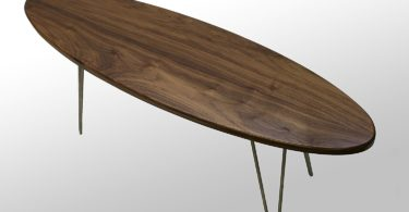 The Longboard Coffee Table: Walnut