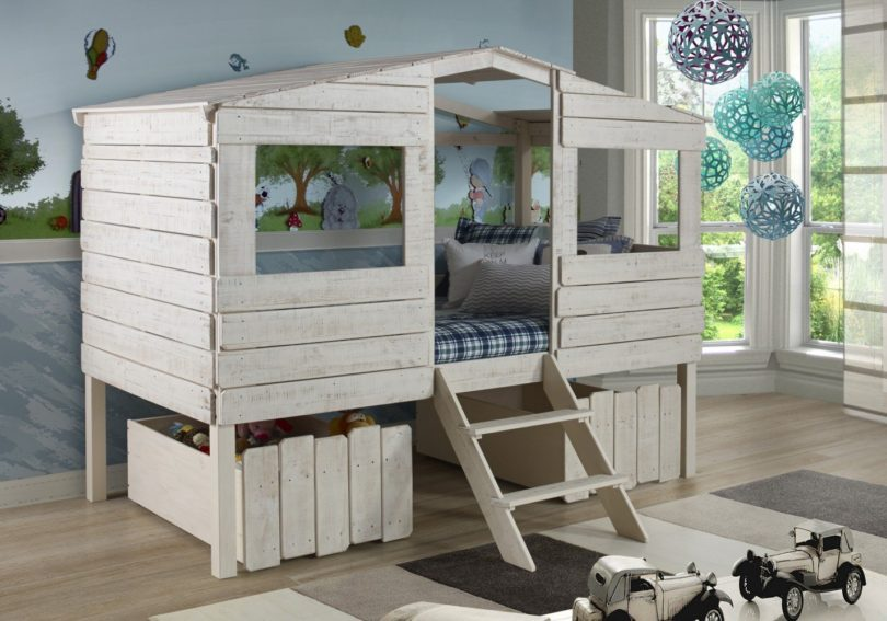 Twin Tree House Loft Bed for Kids