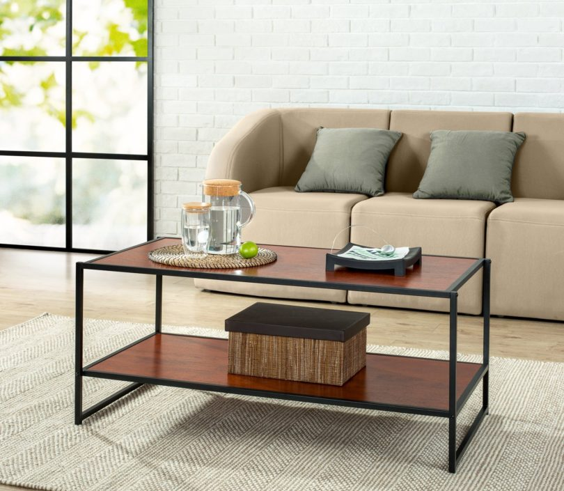 Zinus Modern Studio Collection Deluxe Rectangular Coffee Table