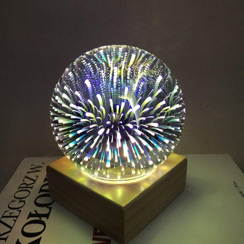 Erosom 3D Fireworks Lamp
