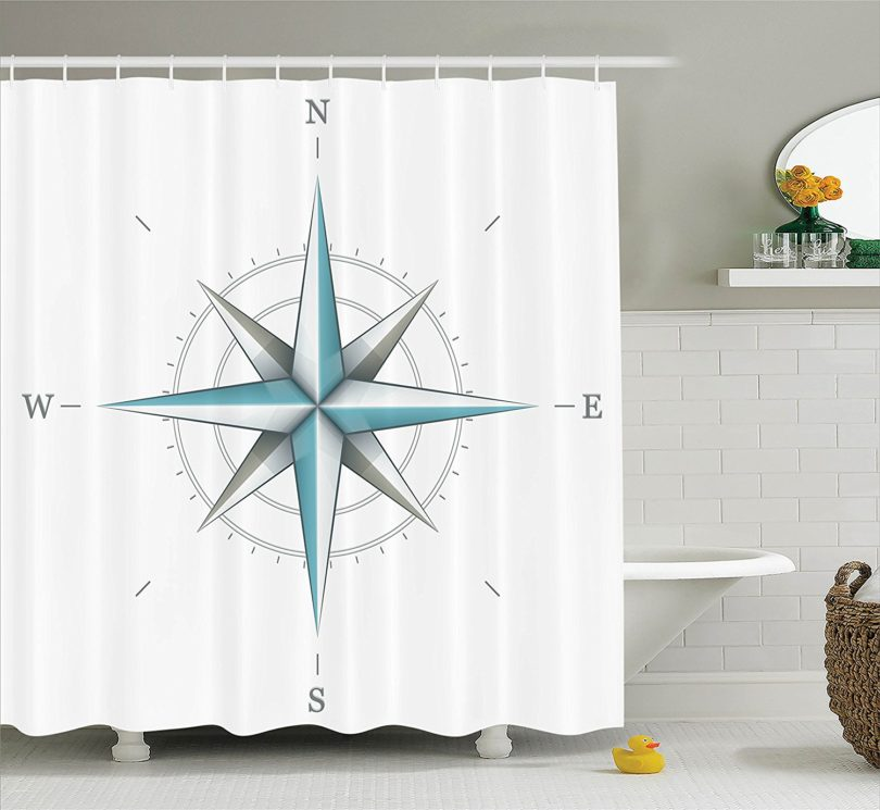 Compass Rose Shower Curtain