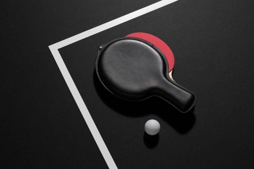 Leather Ping Pong Paddle Case 187 Petagadget