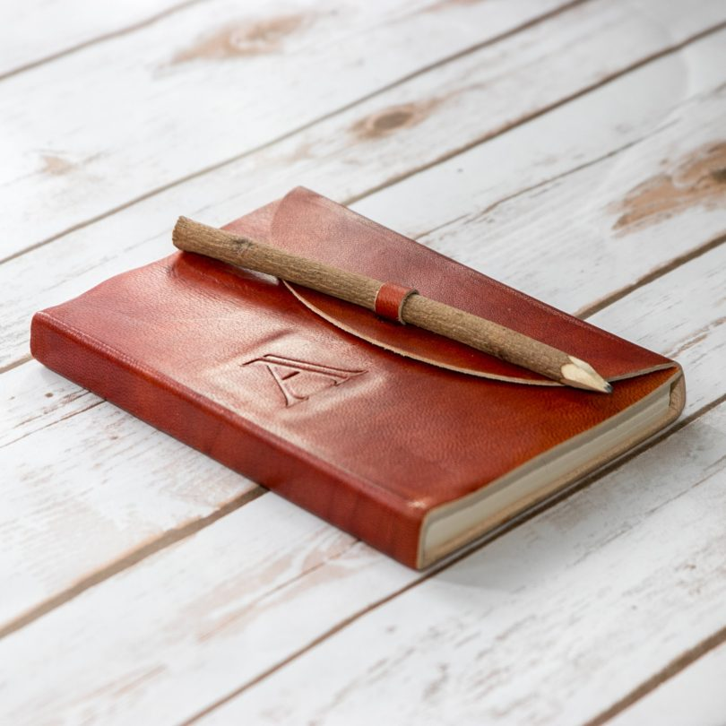 Monogramed Handmade Leather Journal