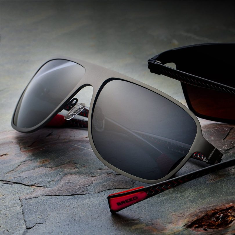 Breed Atmosphere Gunmetal Carbon Fiber Sunglasses