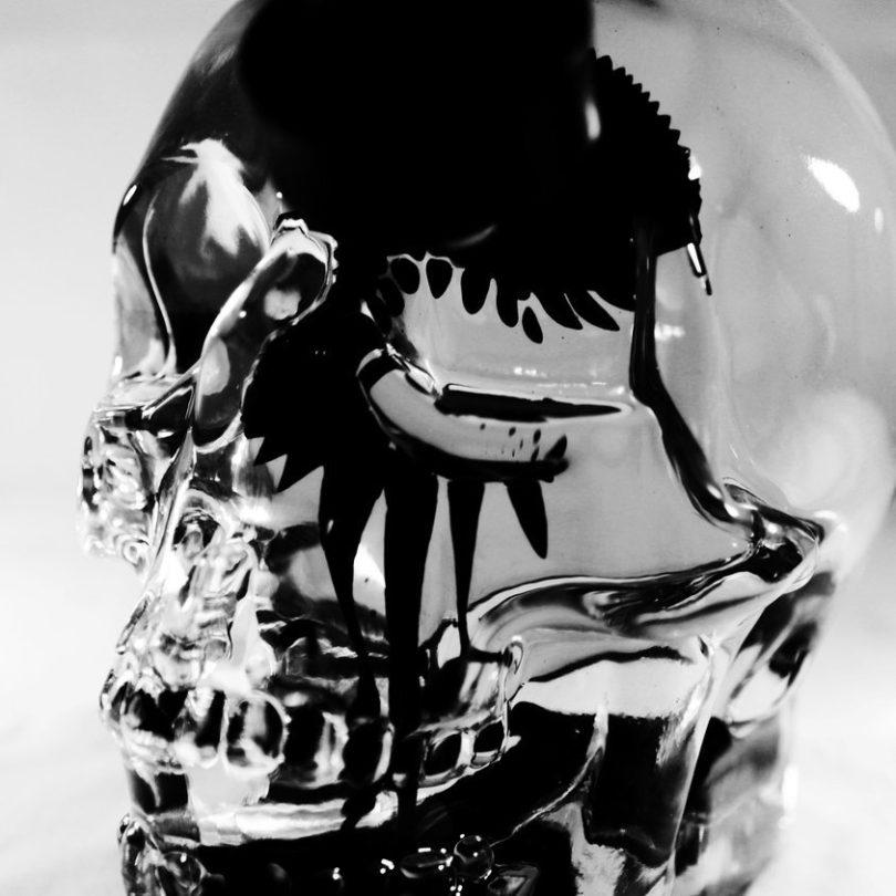 Zkull Ferrofluid Skull Display