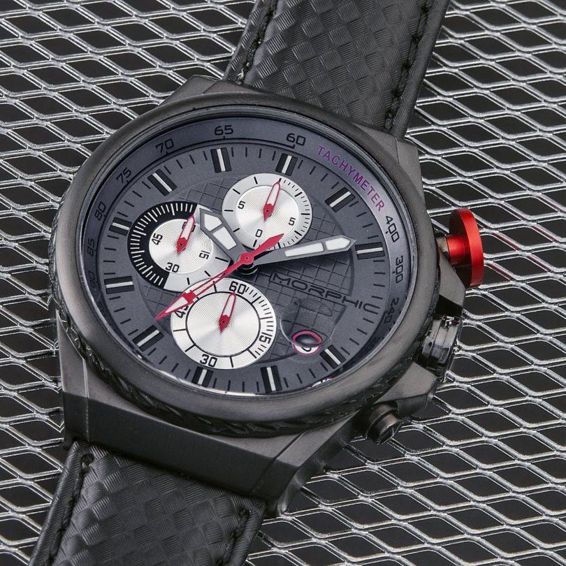 Morphic M39 Series Chronograph Genuine Leather Strap Watch