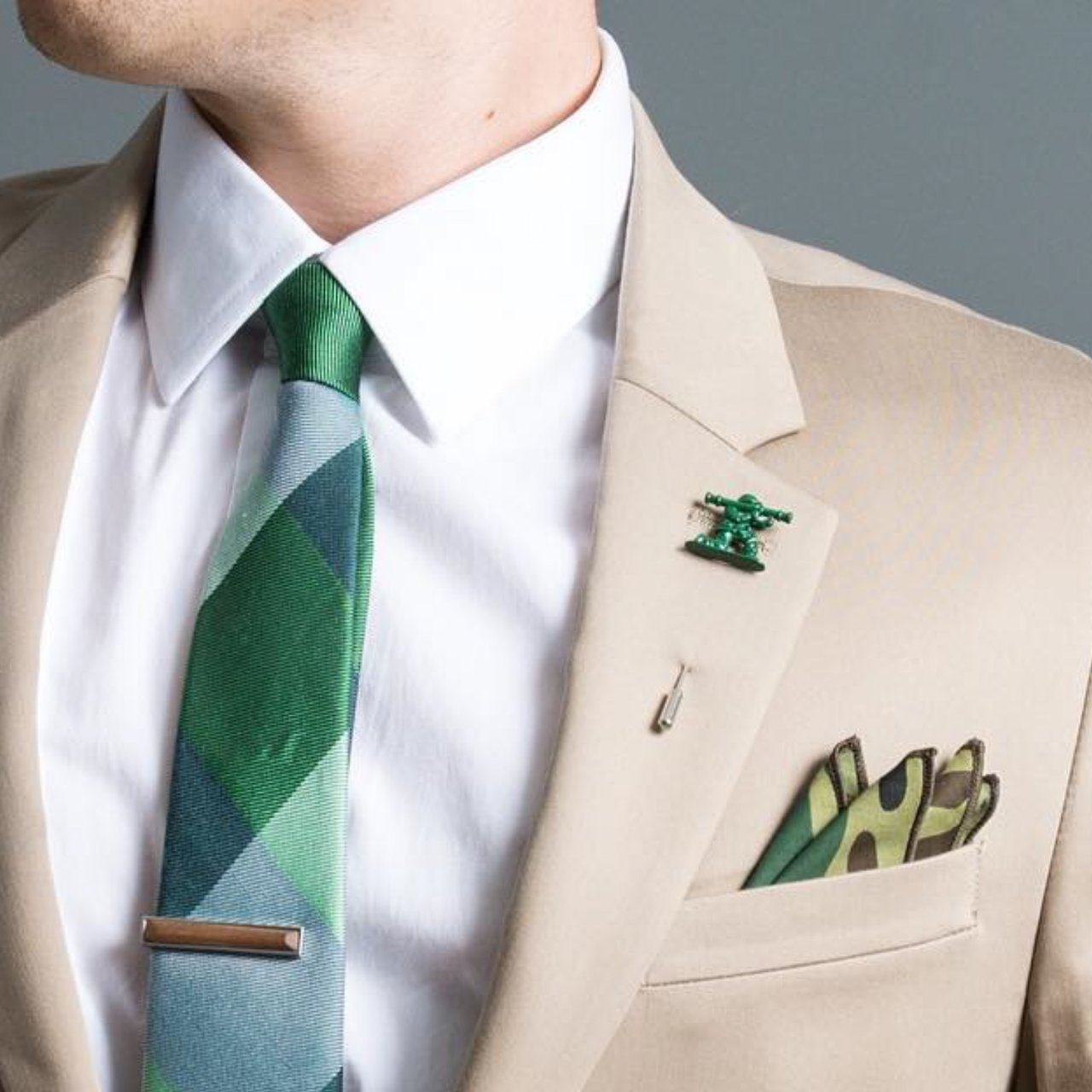 Army Man Lapel Pin