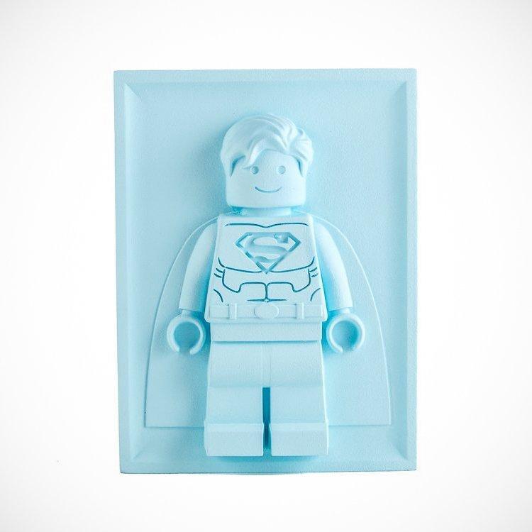 Bas-Relief Sculpture Lego Superman