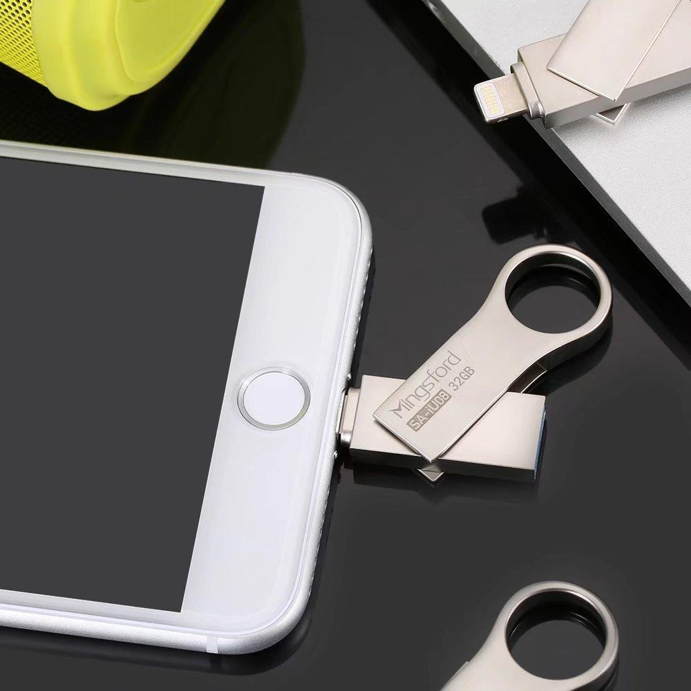 HooToo iPhone iPad iPod Flash Drive 128GB USB 3.0 to MFi Lightning connector
