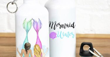 Mermaid Water Personalized Best Friends Water Bottle