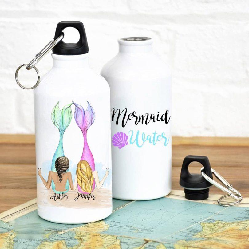 Mermaid Water Personalized Best Friends Water Bottle