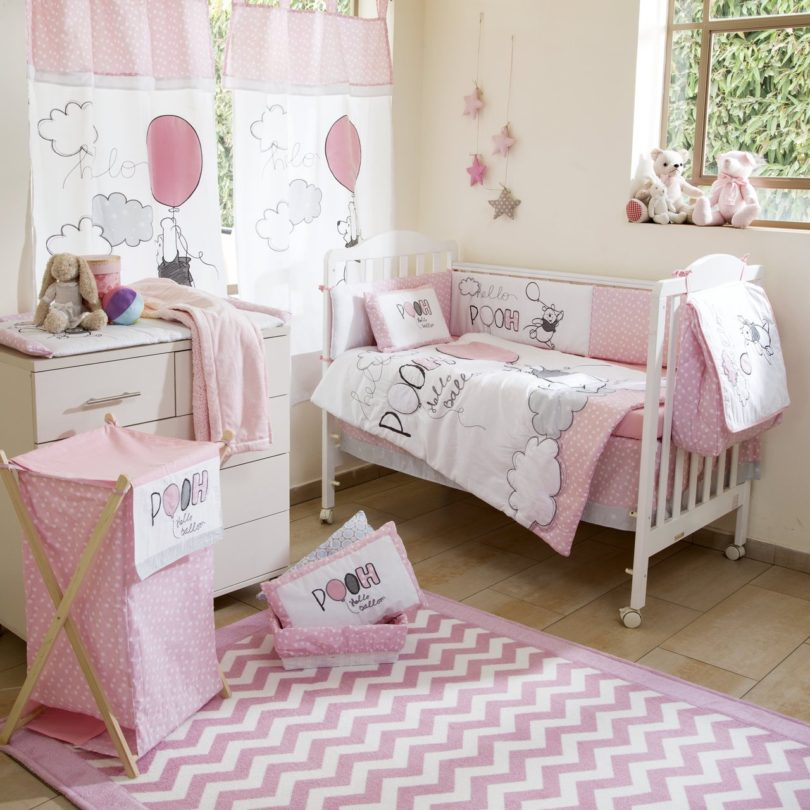 Disney Pink Winnie The Pooh Play Crib Bedding Set 187 Petagadget