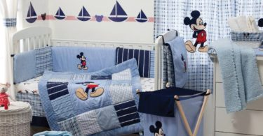 Blue Mickey Mouse Bedding Collection Crib Bedding Set