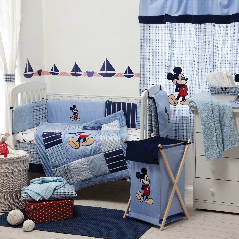 Blue Mickey Mouse Bedding Collection Crib Bedding Set