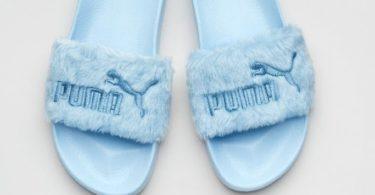 Cool Blue Puma Fur Slide WNS Rihanna