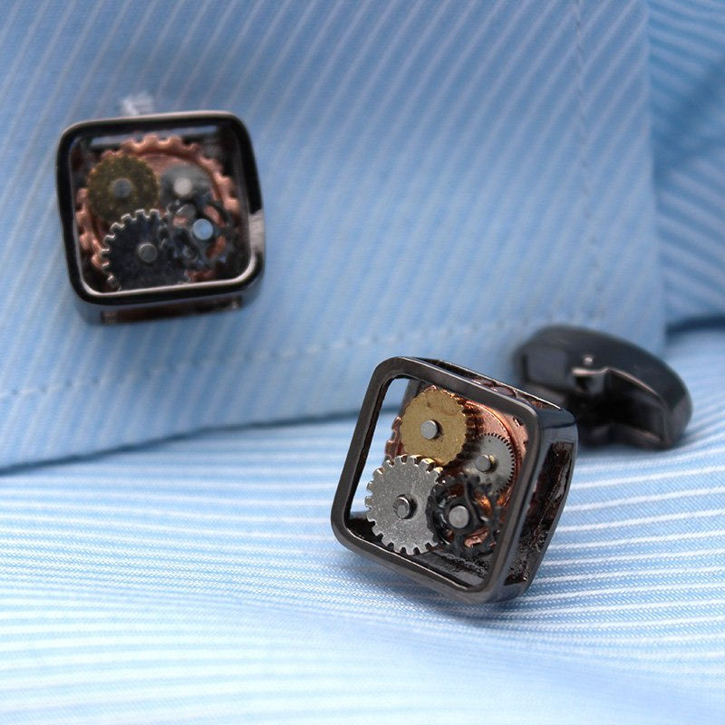 Steampunk Gears Cufflinks