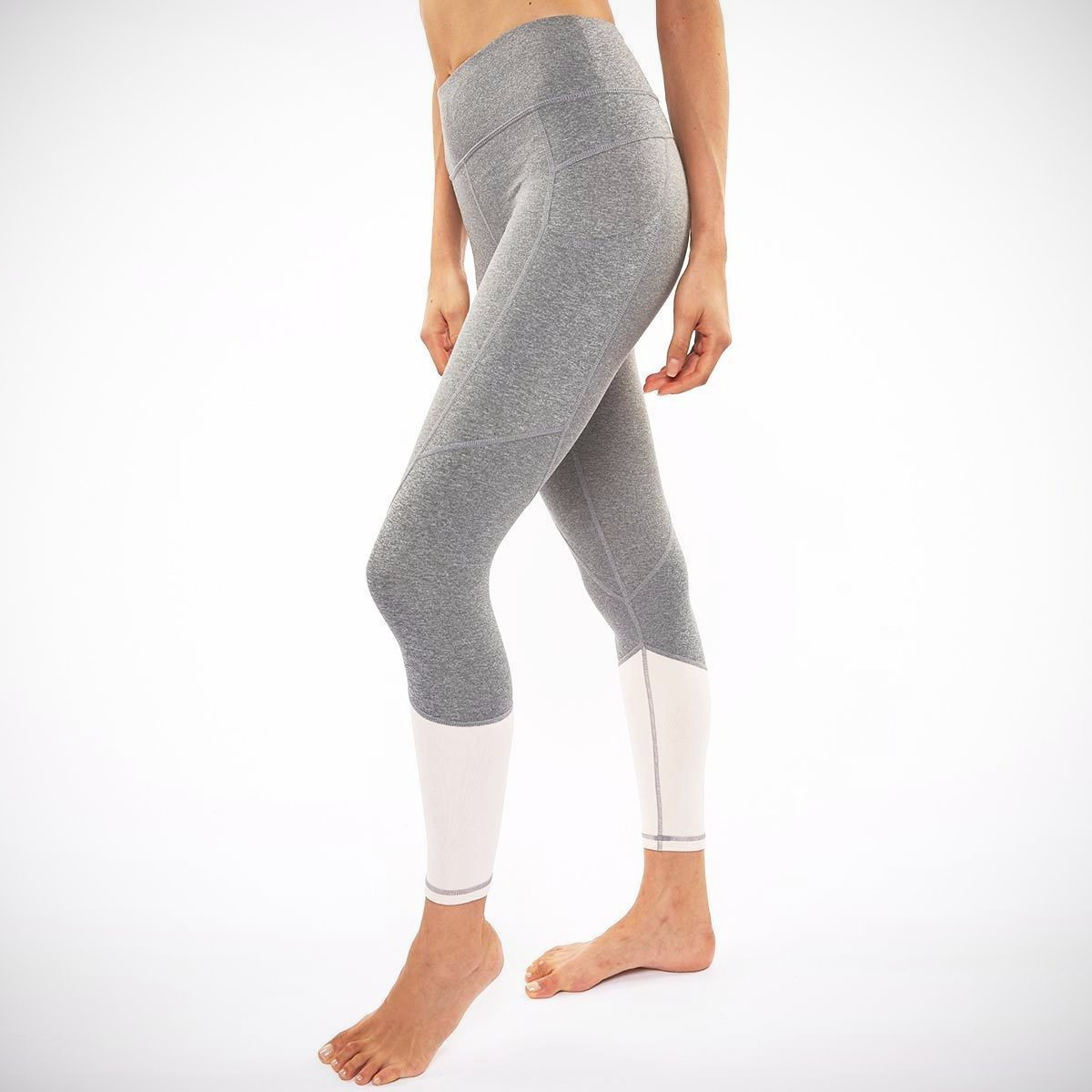 Riley 7/8 Medium Waist Tight in Heather Grey/Blush