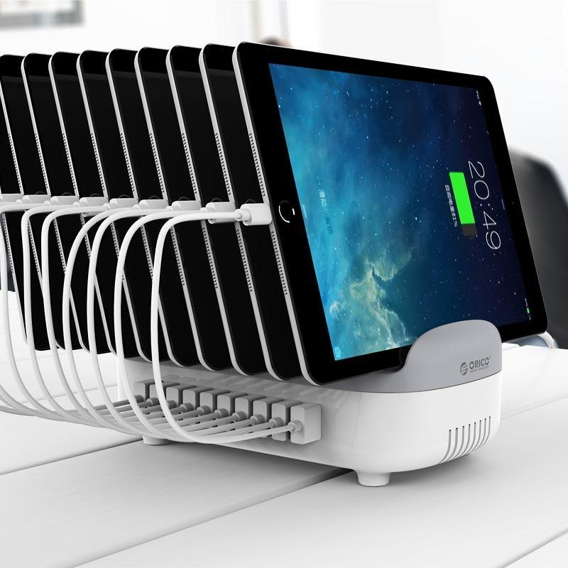 10-Port USB Charging Station with On/Off Switch