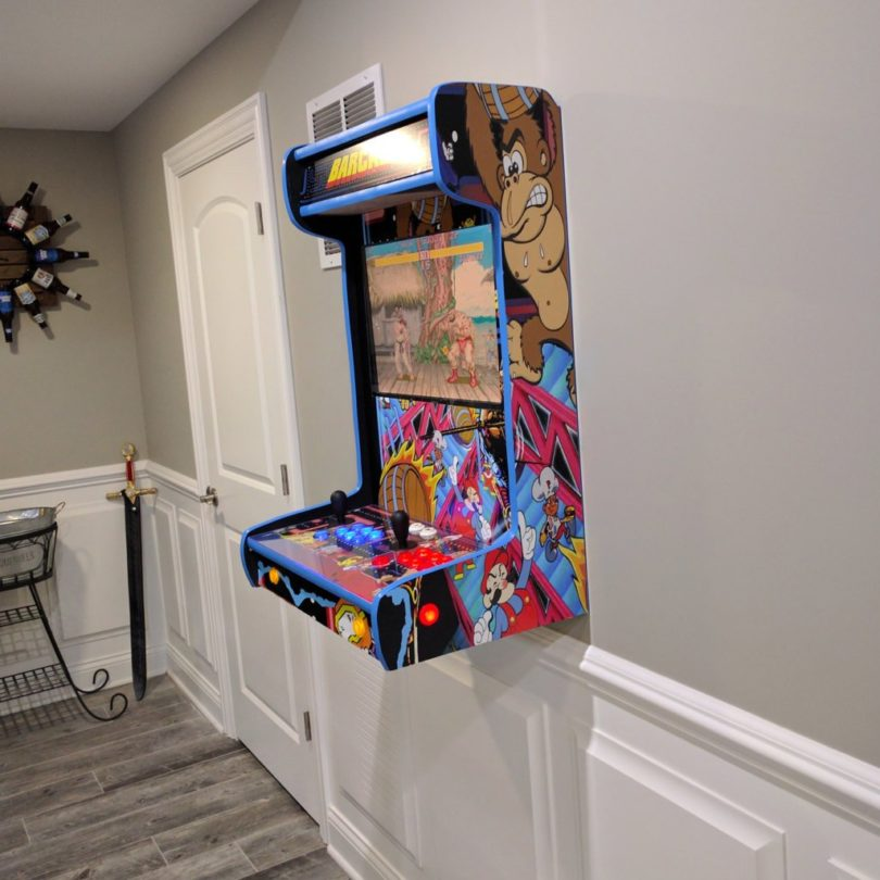 Wall-Mounted Arcade Cabinet