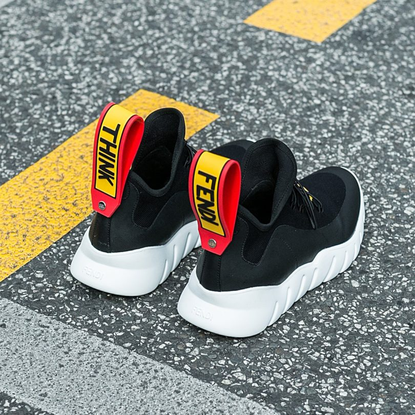 Fendi Black and White Runner Sneakers