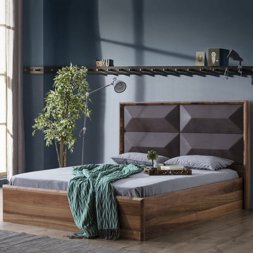 Mario Upholstered Wood Bed